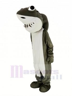 gris et blanc Requin Mascotte Costume