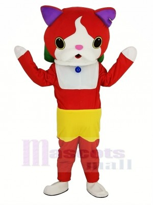 Yo-Kai Watch Jibanyan rouge Chat Mascotte Costume Dessin animé