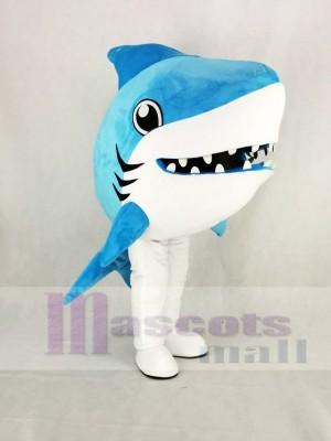 Mignonne Bleu Baleine Requin Mascotte Costume Dessin animé