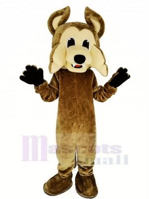 marron Coyote Mascotte Costume Loup Animal