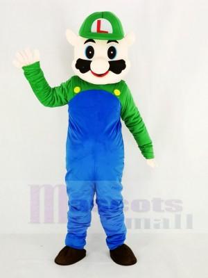 Super Mario Bros dans vert Mascotte Costume Dessin animé