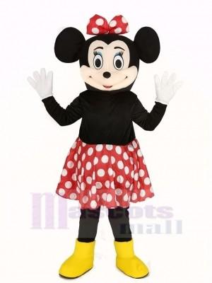 Minnie Mouse dans rouge Jupe Mascotte Costume