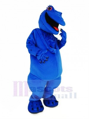 Bleu Lézard Mascotte Costume Animal
