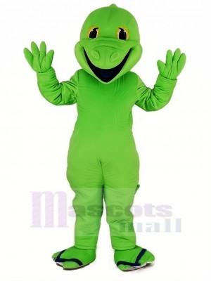 vert Lézard Mascotte Costume Dessin animé