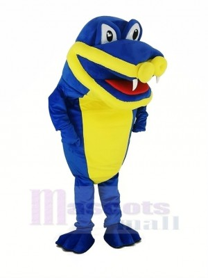 Royal Bleu Crocodile Alligator Mascotte Costume
