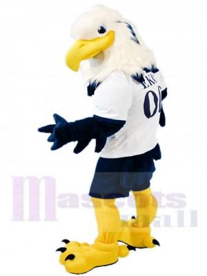Féroce blanc Diriger Bleu Aigle Mascotte Costume Animal