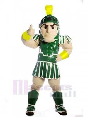 vert spartiate troyen Chevalier Spartyavec Bouclier Mascotte Costume Gens