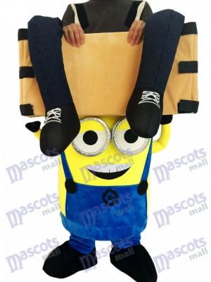 Piggyback Moi, moche et méchant Minions, porte moi en costume de mascotte des deux yeux Minions