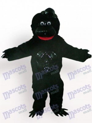 Orang outan avec un costume de mascotte animale chapeau noir