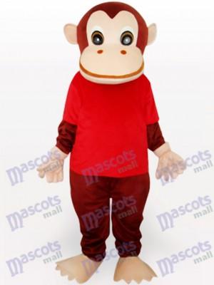 Costume drôle de mascotte animale rouge gorille