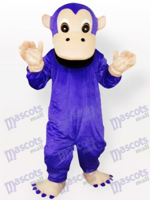 Costume de mascotte animal pourpre gorille