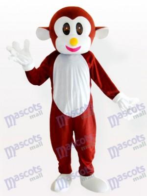 Déguisement de mascotte animale brune de singe rebondissant