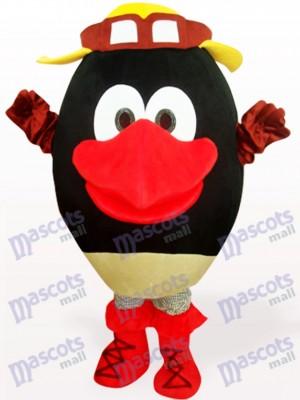 Costume de mascotte adulte en peluche poupée ronde noire