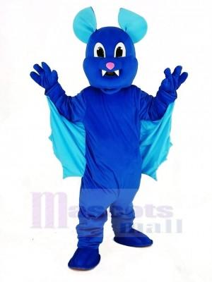 Bleu En volant Chauve souris Mascotte Costume Animal