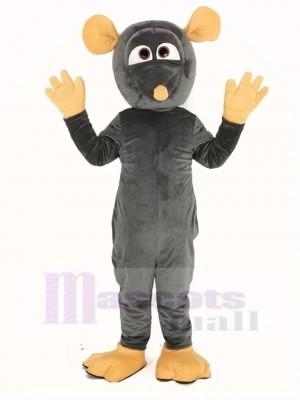 Gris Rat avec Gros Yeux Mascotte Costume Animal