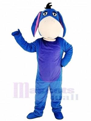 Bleu Bourriquet Âne Mascotte Costume