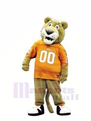 Des sports marron Lion Mascotte Les costumes