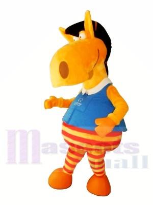 Mignonne Orange Cheval Mascotte Les costumes Animal