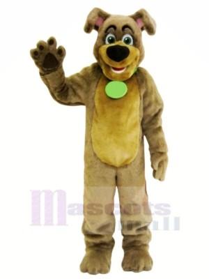 marron Chien avec Gros Nez Mascotte Les costumes Animal