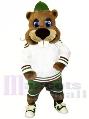 sport Castor avec Gros Nez Mascotte Les costumes Animal