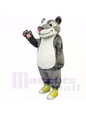 Gris blanc Hamster Costumes De Mascotte Animal