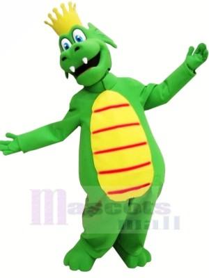 Roi vert Dragon Mascotte Les costumes Dessin animé