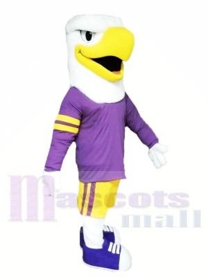 Aigle avec Violet Costume Mascotte Les costumes Animal