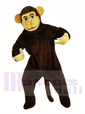 Curieuse marron Singe Mascotte Les costumes Animal