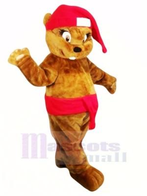 Mignonne marron Noël Castor Mascotte Les costumes Animal