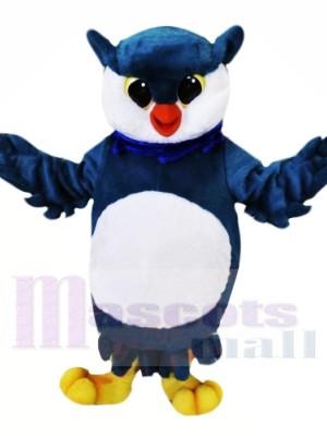 Bleu et blanc Hibou Mascotte Les costumes Animal
