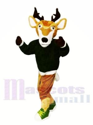 sport Cerf avec Noir Chandail Mascotte Les costumes Animal