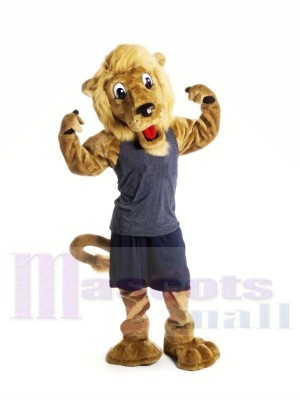 Beau marron Lion Mascotte Les costumes Animal