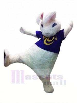 Haute Qualité blanc lapin Mascotte Les costumes