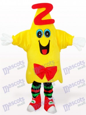 Déguisement de mascotte adulte Cartoon jaune étoile