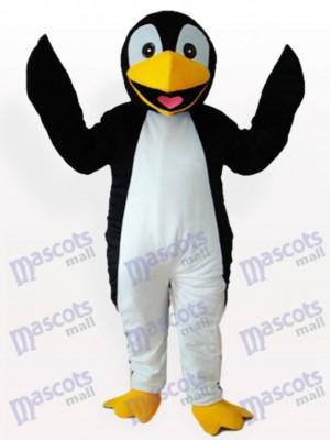 Costume drôle de mascotte adulte noir de pingouin