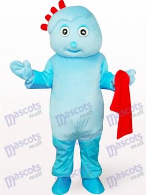 Costume mignonne garçon en mascotte bleue
