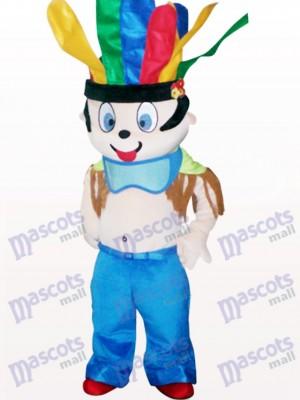 Costume de mascotte adulte mignon de bande dessinée indienne