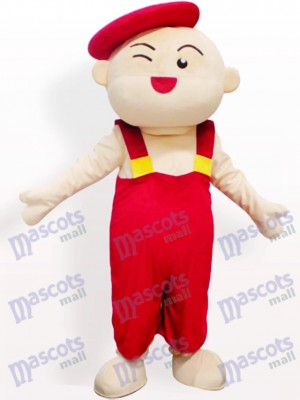 Costume de mascotte adulte Cartoon Red Hat Boy