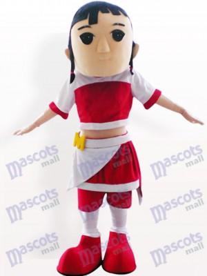 Costume de mascotte adulte de jolie fille de bande dessinée