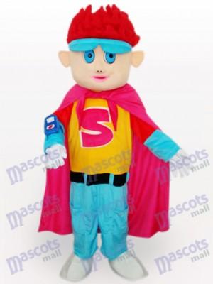 Costume de mascotte adulte de dessin animé de cheveux roux garçon