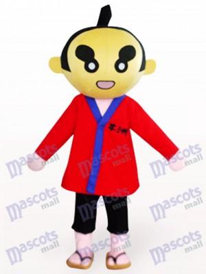 Sumoto personnes en Costume de mascotte de dessin animé de vêtements rouges