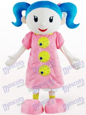Costume de mascotte adulte mignonne fille de bande dessinée