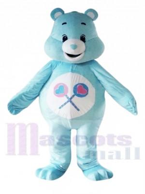 ma Charmant Bleu Se soucier Ours Mascotte Les costumes