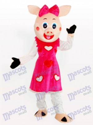 Costume de mascotte d'animal adulte de tirelire souriant