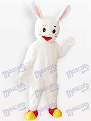 Costume de mascotte adulte de lapin blanc de lapin de Pâques