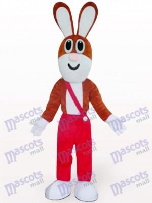 Costume de lapin de Pâques en pantalon rouge animaux mascotte