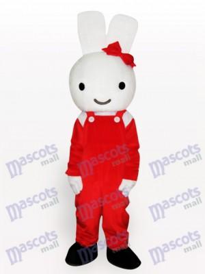 Costume de mascotte adulte de lapin rouge de Pâques