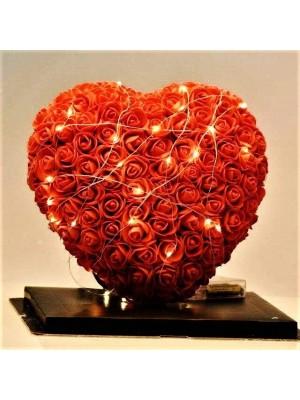 Luxe Fleur de coeur rose Meilleur cadeau pour la fête des mères, la Saint-Valentin, les anniversaires, les mariages et les anniversaires