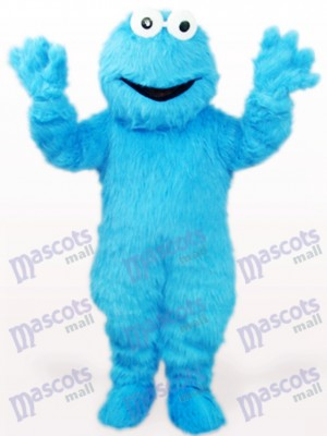 Costume de mascotte adulte bleu monstre cheveux longs monstre anime