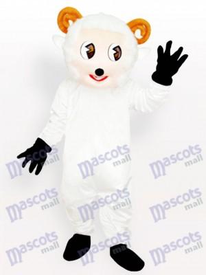 Costume de mascotte adulte petit mouton blanc animal